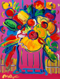 Fine Art - Work on Paper:Print, Peter Max (American, b. 1937). Abstract Flowers. Acrylic onlithograph in colors. 16 x 12 inches (40.6 x 30.5 cm) (sheet...