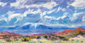 Paintings, Louisa McElwain (American, 1953-2013). Silver Rain. Oil on canvas. 34-1/4 x 64 inches (87.0 x 162.6 cm). Signed lower le...