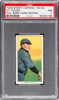 Baseball Cards:Singles (Pre-1930), 1909-11 T206 Sweet Caporal 150/30 Cy Young (Hand Shows) PSA NM 7. ...