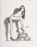 Original Comic Art:Splash Pages, Frank Brunner The Vamp Pin-Up Illustration Original Art(2001)....