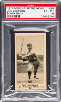 Baseball Cards:Singles (Pre-1930), 1916 M101-5 Blank Back (Sporting News) Joe Jackson #86 PSA EX-MT6....