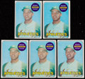 Baseball Cards:Lots, 1969 Topps Reggie Jackson #260 Rookie Lot of 5 Cards. ...