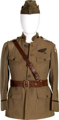 Militaria:Uniforms, WWI Service Jacket, Sam Brown Belt and Overseas Hat Identified to Pilot 1st Lieutenant William T. Doran, 99th Aero Squadron.... (Total: 6 )