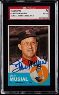 Autographs:Sports Cards, Signed 1963 Topps Stan Musial #250 SGC Authentic....