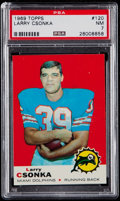 Football Cards:Singles (1960-1969), 1969 Topps Larry Csonka #120 PSA NM 7....