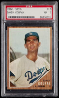 Baseball Cards:Singles (1960-1969), 1962 Topps Sandy Koufax #5 PSA NM 7....