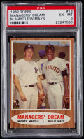 Baseball Cards:Singles (1960-1969), 1962 Topps Mickey Mantle/Willie Mays - Managers' Dream #18 PSA EX-MT 6....