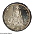 Patterns: , 1870 H10C Standard Silver Half Dime, Judd-810, Pollock-898, HighR.7, PR64 PCGS. William Barber's Seated Liberty design is ...
