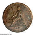 Patterns: , 1870 25C Standard Silver Quarter Dollar, Judd-878, Pollock-975, R.7, PR65 Red and Brown PCGS. William Barber's Seated Liber...