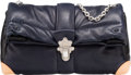 "Luxury Accessories:Bags, Louis Vuitton Navy Blue Lambskin Leather Defile Femme Cloud ClutchBag. Excellent to Pristine Condition. 13"" Width x8..."