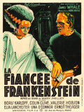 "Movie Posters:Horror, The Bride of Frankenstein (Universal, 1935). French Grande (46.5"" X62"") Joseph Koutachy Artwork.. ..."