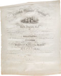 """Autographs:Military Figures, Thomas J. """"Stonewall"""" Jackson V.M.I. Diploma Signed and Virginia Dialectic Society of Cadets Certificate... (Total: 2 )"""