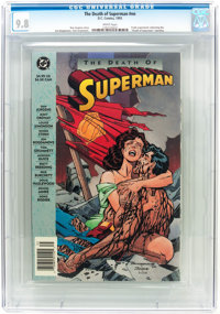 The Death of Superman Trade Paperback #nn (DC, 1993) CGC NM/MT 9.8 White pages