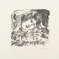 Fine Art - Work on Paper:Print, Marc Chagall (French/Russian, 1887-1985). Le Village, 1957.Lithograph on wove paper. 7-1/2 x 7-3/4 inches (19.1 x 19.7 ...