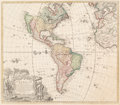 Fine Art - Work on Paper:Print, Homann Heirs (Germany). Americae Mappa Generalis, 1746. Engraving with colors. 20-1/2 x 24 inches (52.1 x 61.0 cm) (shee...