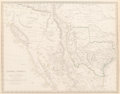 Fine Art - Work on Paper:Print, English School (19th Century). Central America II. Including Texas, California and the Northern States of Mexico, 1842. ...