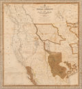 Fine Art - Work on Paper:Print, After S. Augustus Mitchell (American, 1790-1860). A New Map of Texas, Oregon and California with the Regions adjoining Com...