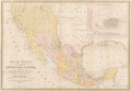 Fine Art - Work on Paper:Print, After Samuel Augustus Mitchell (American, 1790-1860). Map of Mexico Including Yucatan & Upper California, exhibiting The C...