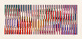 Prints & Multiples, Yaacov Agam (Israeli, b. 1928). Untitled (three works). Screenprint in colors on wove paper, each. 14-1/4 x 34-3/4 inche... (Total: 3 Items)