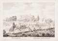 Fine Art - Work on Paper:Print, Rocha (Mexican, 19th Century). View of Chapultepec taken from the South East. Showing the attack on the castle made by the...