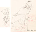 Animation Art:Production Drawing, Pinocchio Foulfellow and Pinocchio Animation Drawing Groupof 2 (Walt Disney, 1940).. ... (Total: 2 )