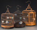 Asian:Chinese, A Group of Three Chinese Birdcages. 22-1/2 inches high (57.2 cm).... (Total: 3 Items)