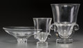 Art Glass:Steuben, Three Steuben Glass Vessels, Corning, New York, 20th century.Marks: Steuben. 9-1/4 inches high (23.5 cm). ... (Total: 3Items)