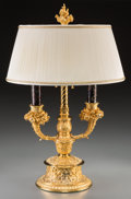 Decorative Arts, French:Lamps & Lighting, A Louis XVI-Style Gilt Bronze Three-Light Candelabra Mounted as aLamp. 29 inches high (73.7 cm). ...