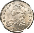 Bust Half Dollars, 1820 50C Square Base 2, Large Date, Knob 2, O-105, R.1, MS63 NGC....