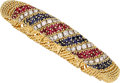Estate Jewelry:Bracelets, Diamond, Ruby, Sapphire, Gold Bracelet. ...