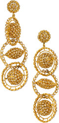 Estate Jewelry:Earrings, Diamond, Gold Earrings, Rebecca Koven. ...