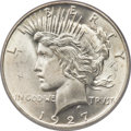 Peace Dollars, 1927-D $1 MS65+ PCGS. CAC....
