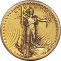 High Relief Double Eagles, 1907 $20 High Relief, Wire Rim AU58 PCGS. CAC....