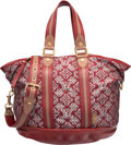 "Luxury Accessories:Bags, Louis Vuitton Limited Edition Red Monogram Canvas Aviator Bag.Excellent Condition. 14"" Width x 11"" Height x 12""Depth..."