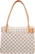 "Luxury Accessories:Bags, Louis Vuitton Damier Azur Canvas Figheri PM Bag. Very GoodCondition. 12.5"" Width x 10"" Height x 5.5"" Depth. ..."