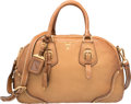 "Luxury Accessories:Bags, Prada Brown Cervo Leather Tote Bag. Very Good Condition. 14""Width x 9"" Height x 6"" Depth. ..."