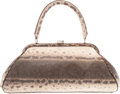 "Luxury Accessories:Bags, Lambertson Truex Natural Karung Snakeskin Top Handle Bag. GoodCondition. 15"" Width x 7"" Height x 3"" Depth. ..."