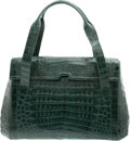 "Luxury Accessories:Bags, Nancy Gonzalez Shiny Green Crocodile Tote Bag. ExcellentCondition. 14.5"" Width x 9"" Height x 4.5"" Depth. ..."