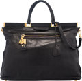 """Luxury Accessories:Bags, Prada Black Leather Tote Bag. Very Good Condition. 17"""" Width x12.5"""" Height x 6"""" Depth. ..."""