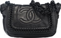 "Luxury Accessories:Bags, Chanel Black Lambskin Leather Shoulder Bag. Excellent Condition.10"" Width x 7"" Height x 4"" Depth. ..."