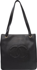 "Luxury Accessories:Bags, Chanel Black Caviar Leather Tote Bag. Excellent Condition. 12.5"" Width x 12.5"" Height x 3"" Depth. ..."