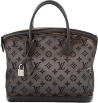 Louis Vuitton Limited Edition Noel 2012 Collection Black Embroidered Monogram Nylon Mesh Lockit Bag Excellent t