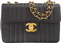 """Luxury Accessories:Bags, Chanel Black Quilted Caviar Leather Jumbo Single Flap Bag. VeryGood Condition. 12"""" Width x 8.5"""" Height x 3"""" Depth. ..."""