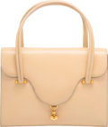 """Luxury Accessories:Bags, Hermes Beige Calf Box Leather Loto Bag with Gold Hardware. Circa1960's. Good to Very Good Condition. 10"""" Width x..."""