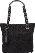 """Luxury Accessories:Bags, Chanel Black Persian Lamb Tote Bag. Pristine Condition.9"""" Width x 8"""" Height x 3"""" Depth. ..."""