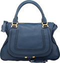 "Luxury Accessories:Bags, Chloe Blue Leather Marcie Bag. Excellent Condition. 17""Width x 11"" Height x 6"" Depth. ..."