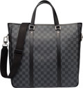 "Luxury Accessories:Bags, Louis Vuitton Damier Graphite Canvas Tadao GM Bag. ExcellentCondition. 15"" Width x 14"" Height x 4.5"" Depth. ..."