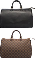 "Luxury Accessories:Bags, Louis Vuitton Set of Two; Black Epi Leather & Damier EbeneCanvas Speedy 35 Bags. Excellent Condition. 14.5"" Width x9... (Total: 2 Items)"