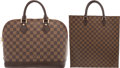 "Luxury Accessories:Bags, Louis Vuitton Set of Two; Damier Ebene Canvas Alma PM & SacPlat GM Bags. Very Good Condition. 14"" Width x 15"" Height... (Total: 2 Items)"