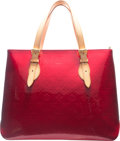 "Luxury Accessories:Bags, Louis Vuitton Pomme d'Amour Red Monogram Vernis Leather BrentwoodBag. Excellent Condition. 15"" Width x 11.5"" Height x 3.5..."